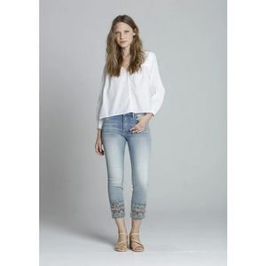 DRIFTWOOD Colette Straight Leg Embroidered Crop
